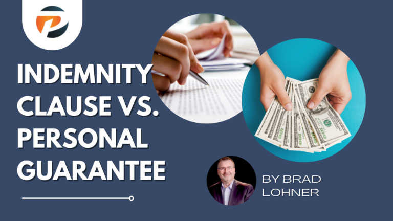 Indemnity Clause vs. Personal Guarantee
