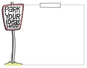 Park Your Ideas Here - Cartoon parking sign