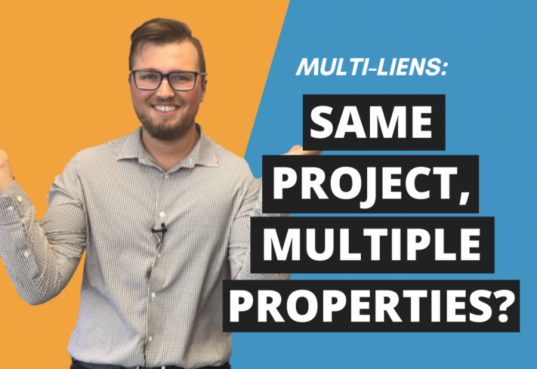 Registering ONE Lien Against Multiple Properties (A Multi-Lien)