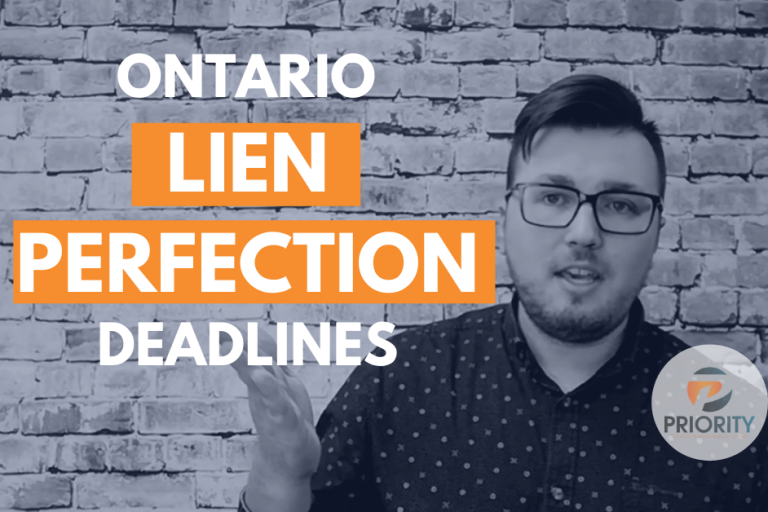 Construction Lien Perfection Periods in Ontario
