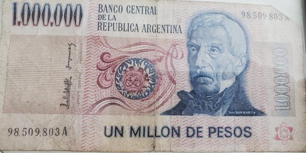 million dollar argentina bank note